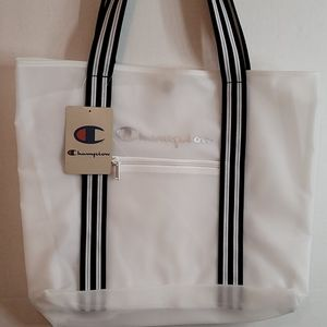 New Champion Translucent Tote Bag Clear/Black OS